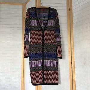 Sz 40 Missoni long cardigan buttonUp stripepattern